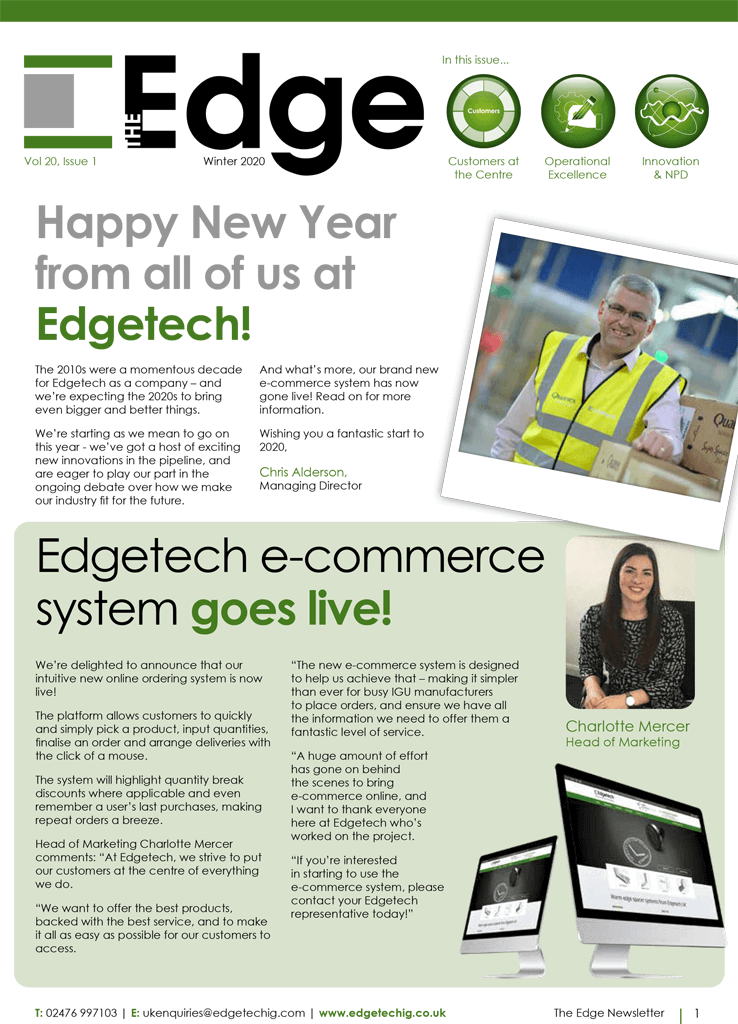 Edgetech newsletter cover