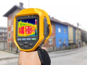 Recording Heat Loss at the House with or without facade